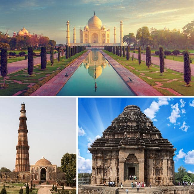 India is has numerous monumental attraction