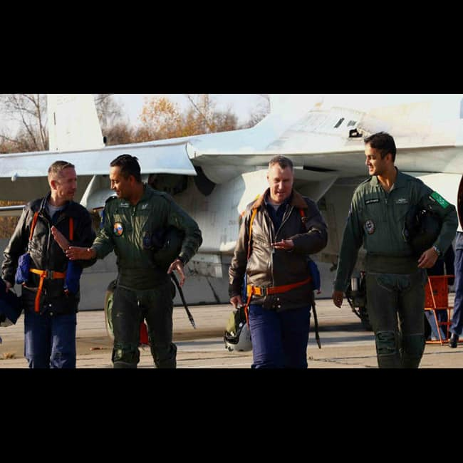 Indian and Russian air force pilots gear up for  military drill of Indra 2017
