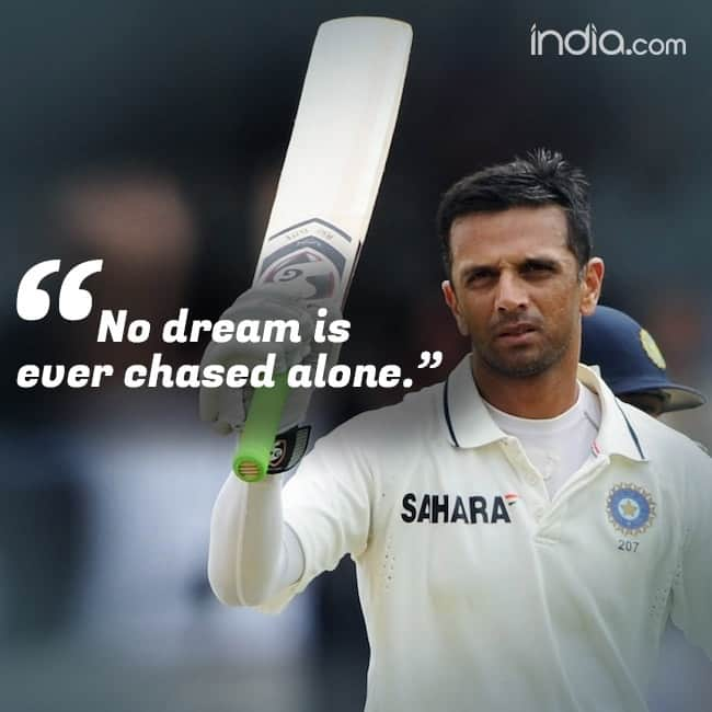 Inspirational quote by Rahul Dravid