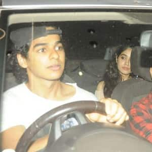PICS: Reported couple Jhanvi Kapoor and Ishaan Khattar attend Baywatch screening together!