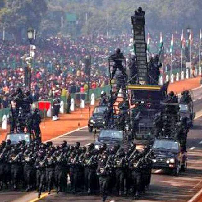 ITBP practicing for Republic Day 2018 parade at Rajpath