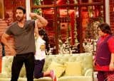 John Abraham on the sets of Comedy Nights Live to promote Rocky Handsome