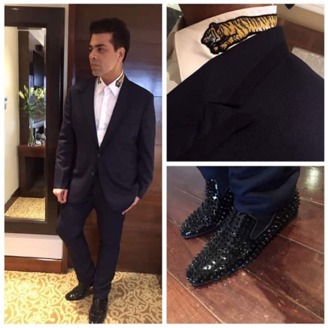 Karan Johar wearing Gucci shoes
