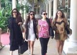 Girl's day out: BFFs Kareena, Amrita, Malaika and Karisma enjoy lunch together!