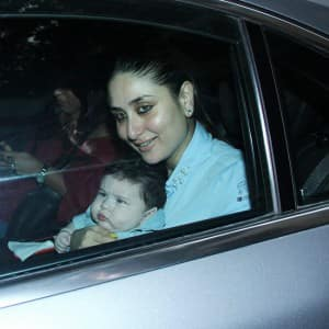 PICS: Kareena Kapoor Khan's first official outing with son Taimur for Tusshar Kapoor's son's birthday party!