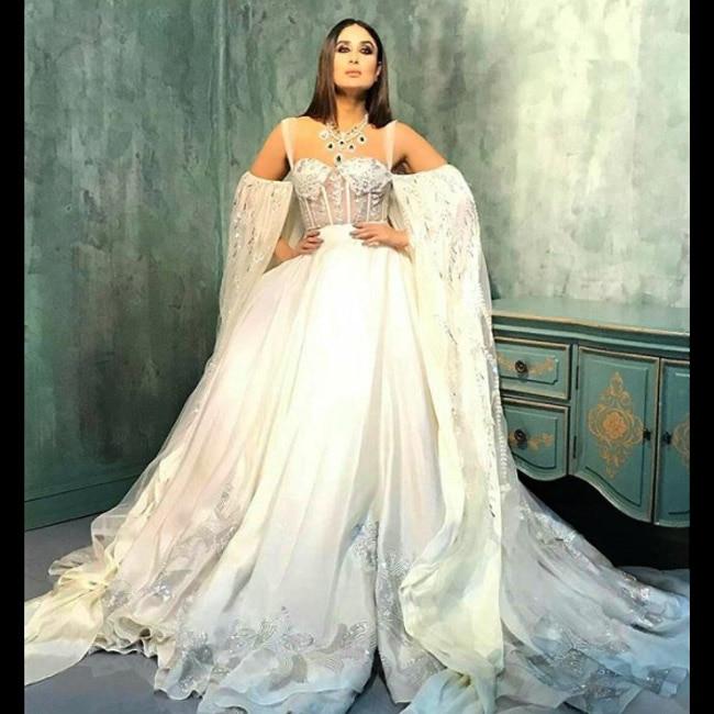 Kareena Kapoor Khan in white bridal costume