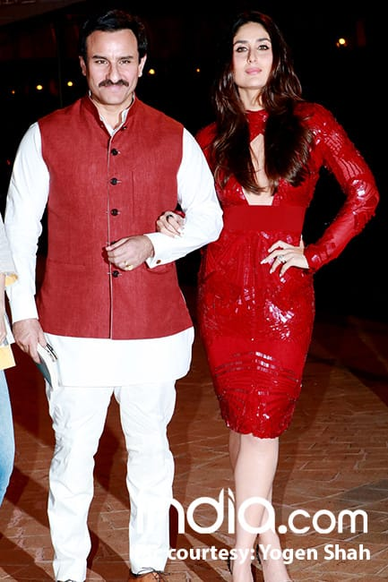 Kareena Kapoor Khan  with Saif Ali Khan  at Soha Alia Khan   s book launch
