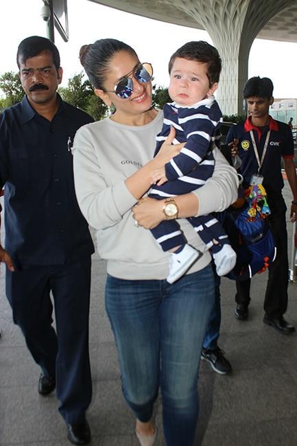 Kareena Kapoor Khan with son Taimur at Mumbai airport