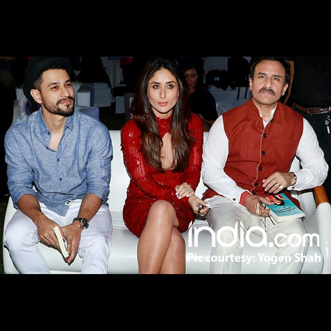 Kareena Kapoor with Saif Ali Khan and Kunal Khemmu
