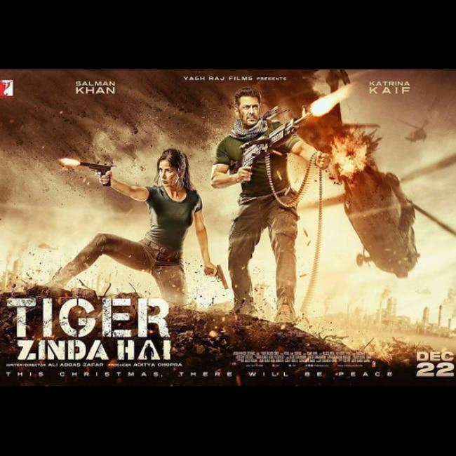 katrina kaif and salman khan in violent mode on tiger zinda hai poster