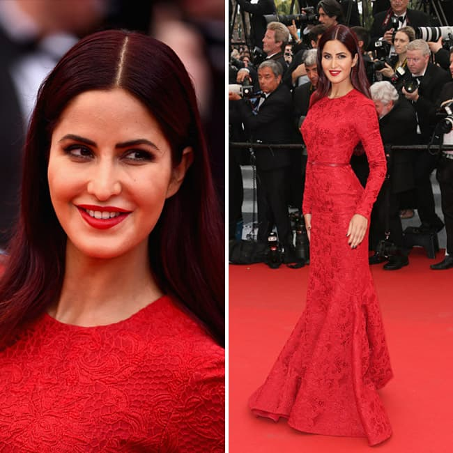 Katrina Kaif walking the red carpet at Cannes 2015