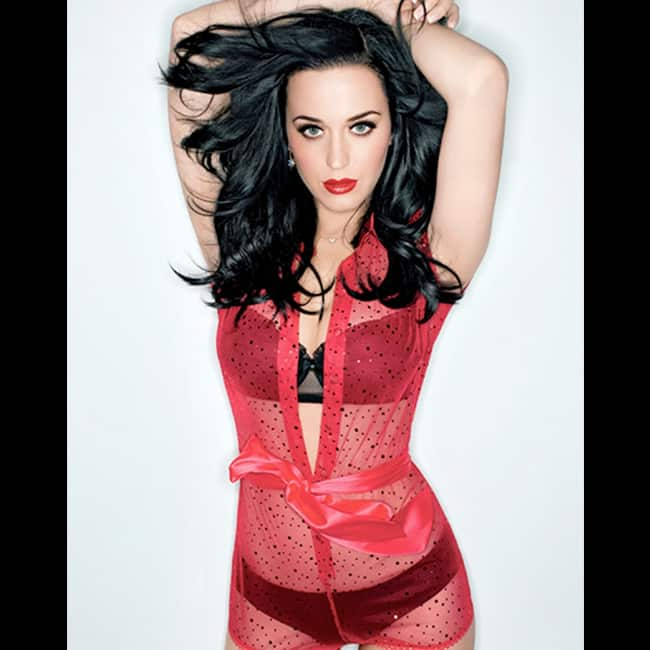 Katy Perry looks red hot in sultry shoot
