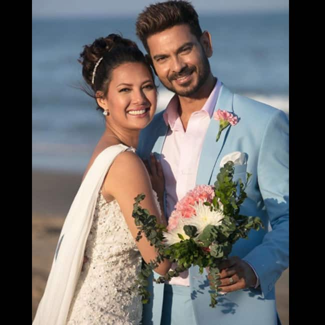 Keith Sequeira and Rochelle Rao after getting hitched