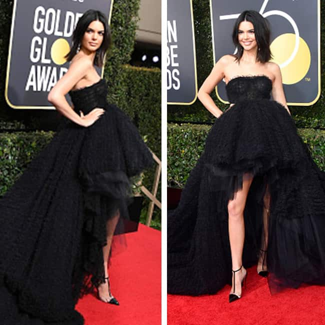 Kendall Jenner at red carpet of 75th Golden Globe Awards