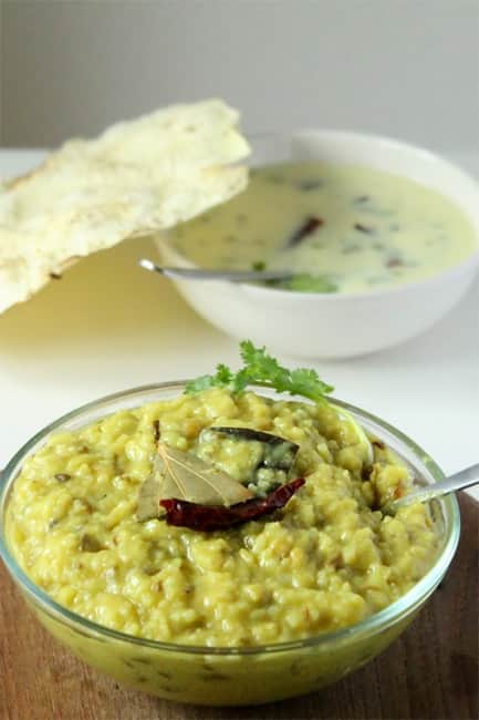 Khichdi and curd rice for dinner
