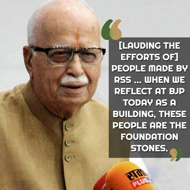 L K Advani on laying foundation of political parties
