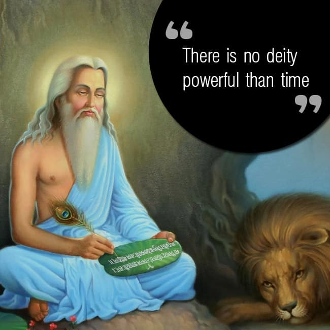 Maharishi Valmiki   s quote on time