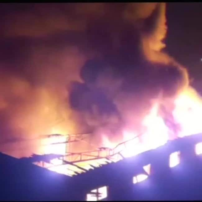 Major fire breaks out at a factory in Bhiwandi  Maharashtra