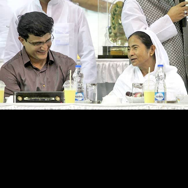 Mamata Banerjee and Sourav Ganguly clicked during an Iftaar party