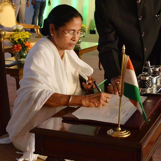 Mamata Banerjee clicked during swearing-in ceremony