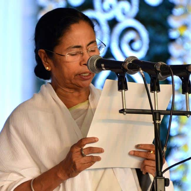 Mamata Banerjee during swearing in ceremony