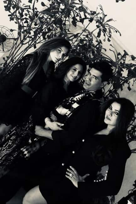 Manish Malhotra with Kanika Kapoor and other friends at his house party
