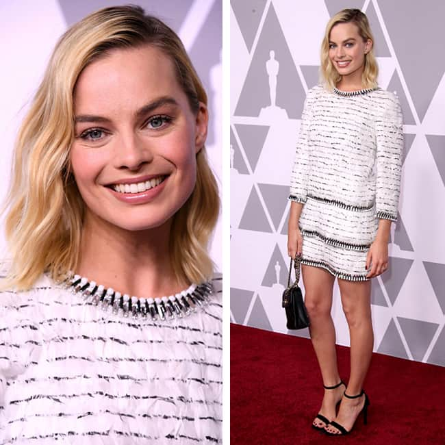 Margot Robbie in Chanel Haute Couture at red carpet of Oscar Awards 2018