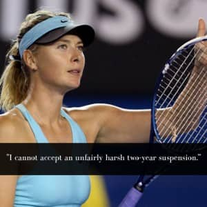 Tennis star Maria Sharapova banned: This is what she has to say in her defence