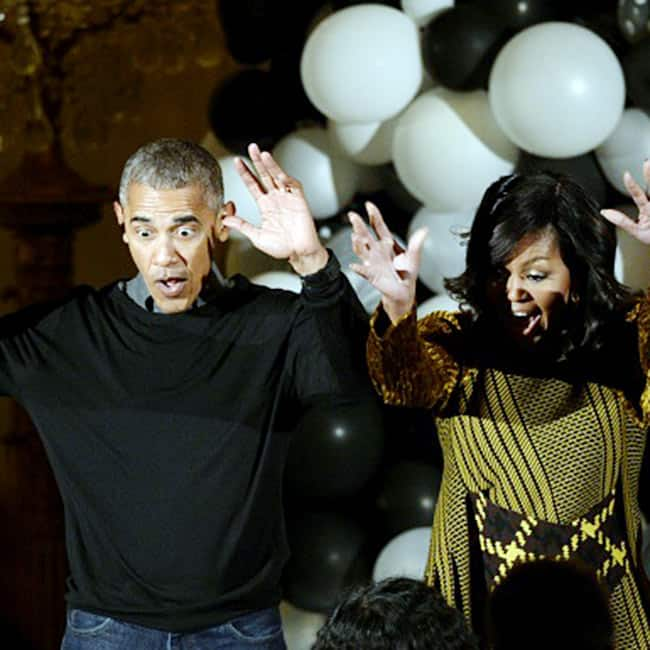Michelle and Barack Obama hosting Halloween 2016
