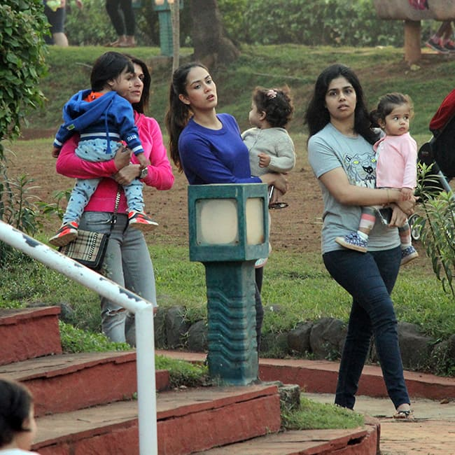 Misha and Mira Rajput snapped at a park in Khar