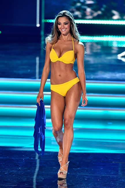 Miss Universe Demi Leigh Nel Peters during the bikini round