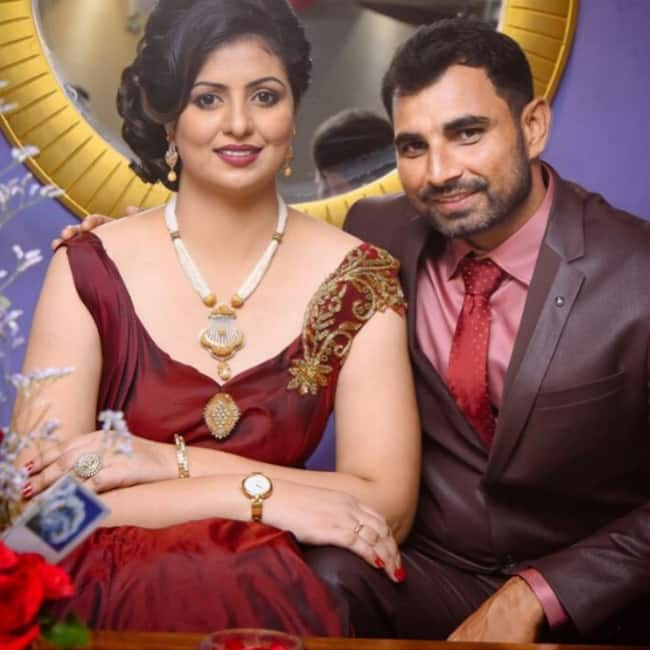 Mohammad Shami   s picture with wife Haseen Jahan