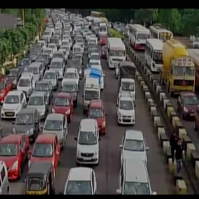 Mumbai traffic due to Maratha Kranti Morcha
