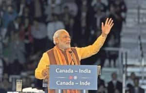 Narendra Modi welcomed by Indians, addresses at Indian Diaspora Event, meets Stephen Harper in Canada (View Pics)