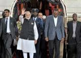 PM Modi on 4 Nation African Tour, receives ceremonial welcome in Kenya