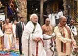 Narendra Modi offer prayers at the Sri Venkateswara Swamy Temple in Tirupati, see pics