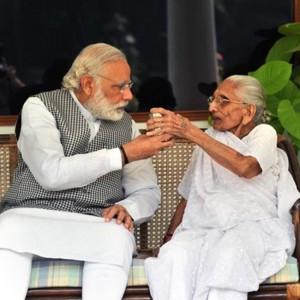 Narendra Modi's mother Heeraben Modi visits his official residence in New Delhi