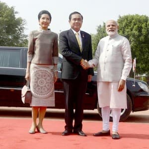 Prime Minister of Thailand visits India, receives ceremonial reception at Rashtrapati Bhavan