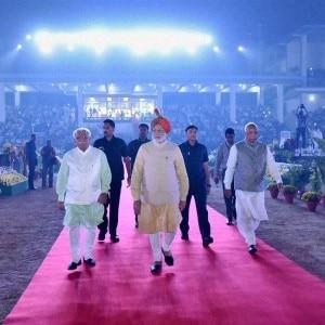 PM Narendra Modi inaugurates Haryana Swarna Jayanti celebrations with CM Manohar Lal Khattar