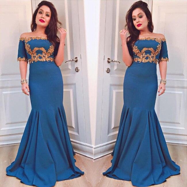Neha Kakkar in  turquoise gown