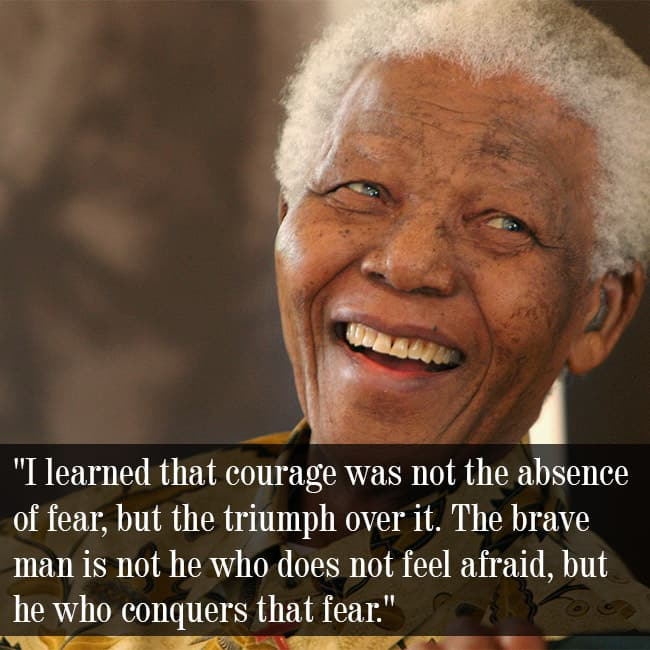 Nelson Mandela Speaking On Courage