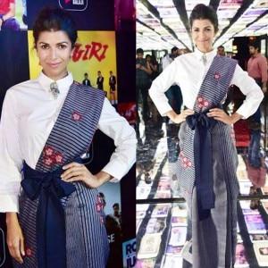 IN PICS: Nimrat Kaur just did the coolest sari of the season at Balaji Telefilms App launch event!