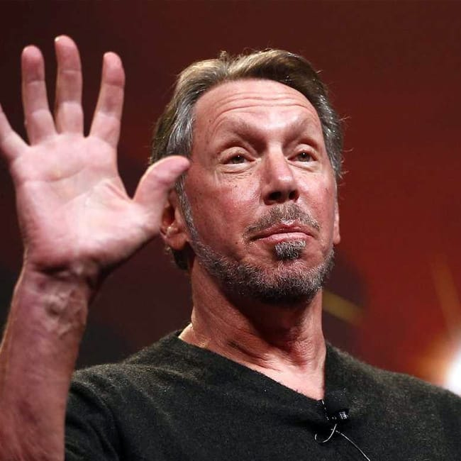 Oracle co founder and CEO Larry Ellison stepped down