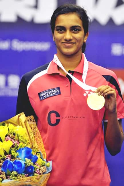 P V Sindhu at Commonwealth youth games 2011