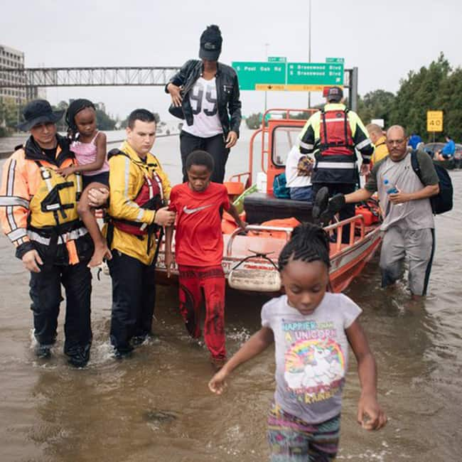 People stranded in Texas due to Hurricane Harvey
