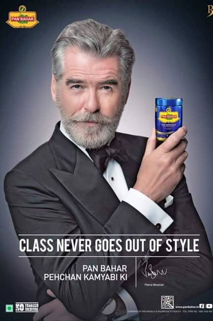 Pierce Brosnan as brand ambassador for Pan Bahar pan masala