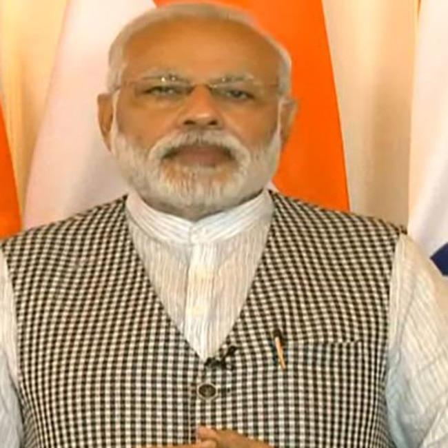 PM Narendra Modi addressing 29th International Yoga Festival from Delhi