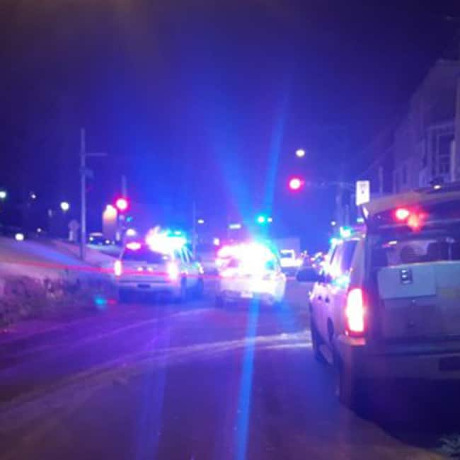 Police near the site of incident in Quebec City