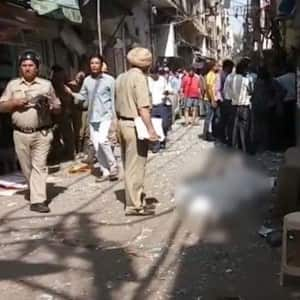 Pictures of explosion at Naya Bazar in Chandni Chowk of old Delhi that claimed life of 1 person!