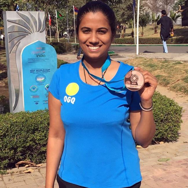 Pooja Ghatkar wins gold medal at Commonwealth Shooting Championships
